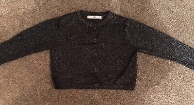 Girls Age 3-4 Black Sparkly Cardigan From M&S
