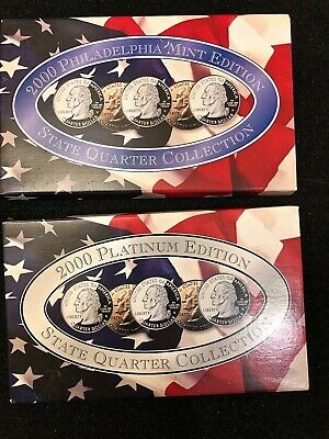 2000 D & Platinum State Quarter Collection (10 Coins) US Mint w/ COA.
