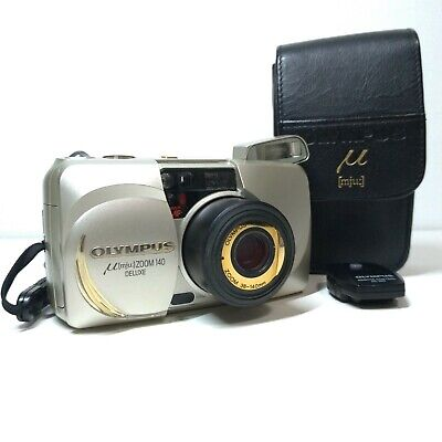 [NEAR MINT] Olympus μ mju Zoom 140 Deluxe Compact Film Camera from JAPAN