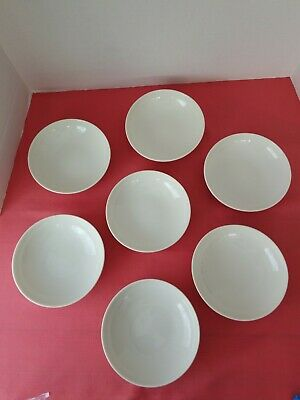 """7 Carefree True China by Syracuse MAYFLOWER Red Soup / Salad Bowl 6 3/4"""""""