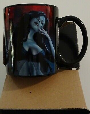 US Tom Wood Design Blood Lust Horror Vampire Ceramic Coffee Mug - new in box
