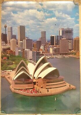 Sydney Opera Houser Circular Quay New South Wales Travel Poster 1970s-1980s