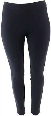 Martha Stewart Ponte Knit Pull-On Ankle Length Pants Navy 6 # A342534