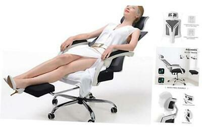 Hbada Ergonomic Office Recliner Chair - High Back Desk Chair White Upgraded