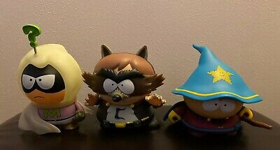 """South Park 7"""" Kidrobot Lot Cartman Wizard, The Coon, and Mysterion Figures"""