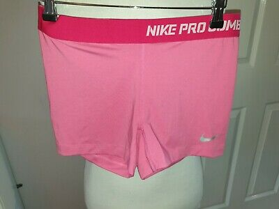 Bnwt Girls Designer Nike Pro Compression Shorts Uk 12-13 Years Rrp £34.99