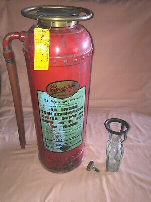 Vintage Conquest Studded Fire Extinguisher 1950's by The Pyrene Company