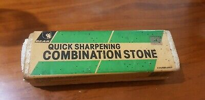 Vintage Bear Sharpening Combination Oil Stone Woodworking Old Tools