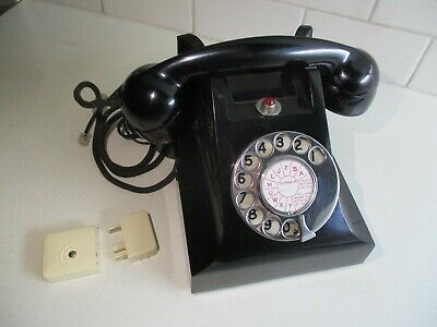 1958 Bakelite 400 Series Telephone Restored, Tested, Working and Polished.