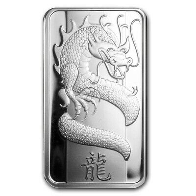 2012 PAMP 1 oz Silver DRAGON Bar .999