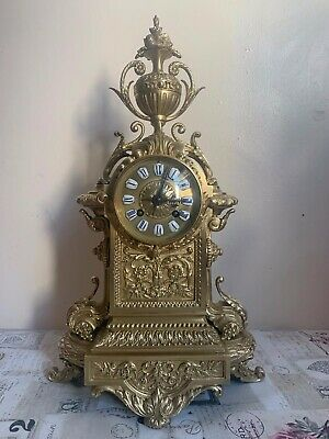 Antique French Bronze Clock by Japy Freres
