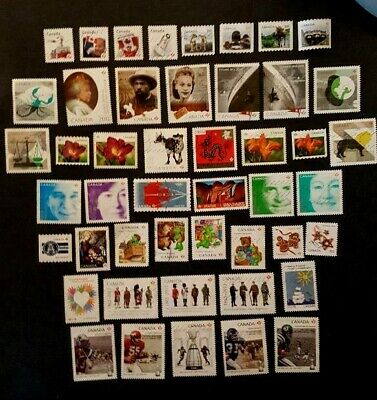 Canadian Used Stamps- 47 recent stamps from 2012