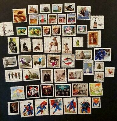 Canadian Used Stamps- 55 recent commemoratives from 2013