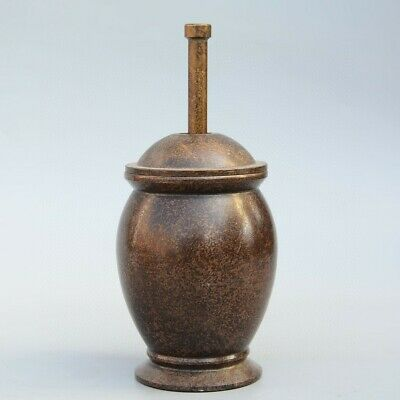 Collectable Handwork China Old Bronze Carve Delicate Uniaue Precious Gallipot