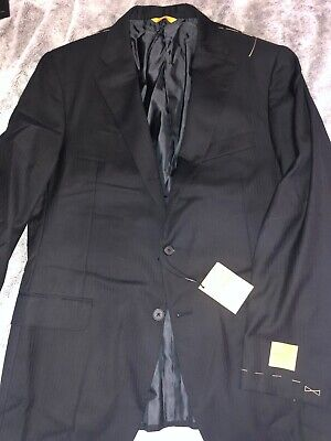 Hickey Freeman By Loro Piana hamilton Black Wool Jacket Size 42R NWT $1695