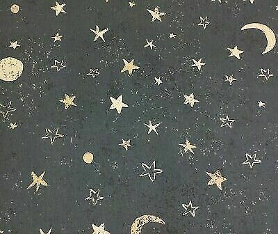 2.7m of Sky at Night - Midnight (FABRIC CLEARANCE SALE)