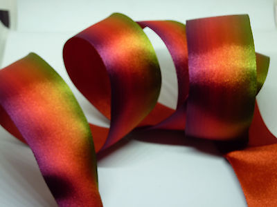 Rainbow Double Sided Satin Wired Ribbon, decorations, bows cakes 1metre