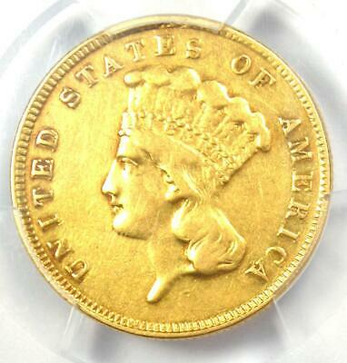 1887 Three Dollar Indian Gold Coin $3 - Certified PCGS VF Details - Rare Date!