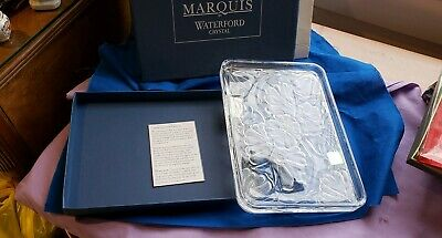 Waterford Crystal Marquis Floral Rectangular Sandwich/Vanity Tray