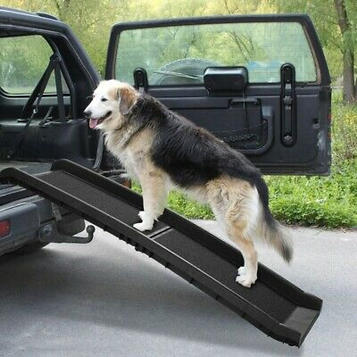 Pet Ramp Portable Foldable Dog Cat Ladder Lightweight, Non-skid Traction Surface