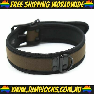 Brown Rubber Puppy Collar - Fetish, Bondage, Gay *FREE WORLDWIDE SHIPPING*