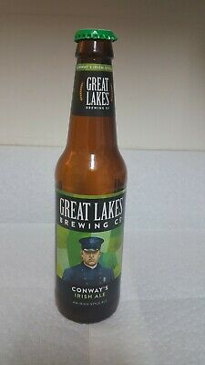 Great Lakes Brewing Company Conway's Irish Ale Beer Bottle With Green Metal Cap