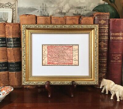Framed Original 1889 Antique Map COLORADO Denver Pueblo Longmont Golden Boulder