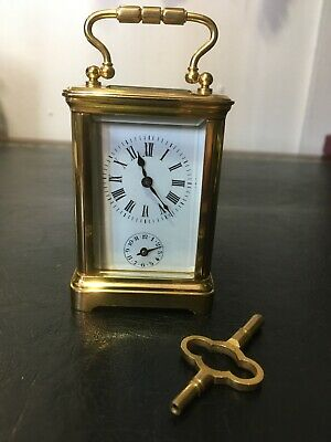 1900's antique French 8 day miniature carriage clock with an alarm.