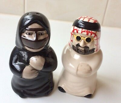 Arab Couple - Muslim Man And Lady Salt And Pepper Shakers