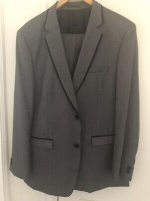 Jonathan Adams Mens Grey Suit Jacket Pants Set Worn Once