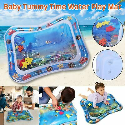 Inflatable Water Play Mat for Infant Baby Toddler Kid Tummy Time Sensory Toys