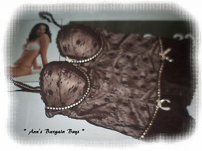 Target * Womens-Size 12C-Floral Lace-Under Wire-Corset-Bustier-So Sexy-Brown-W