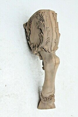 Rare Hand Carved Gothic French Chateau Style Lion Claw Feet Leg Wood Sculpture