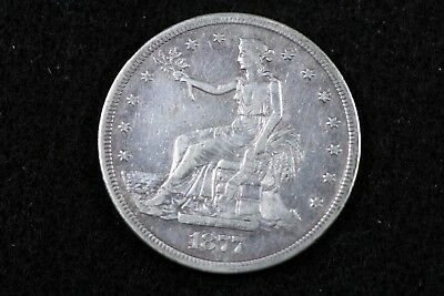 Estate Find 1877 - S Seated Trade Dollar!!  #H15296