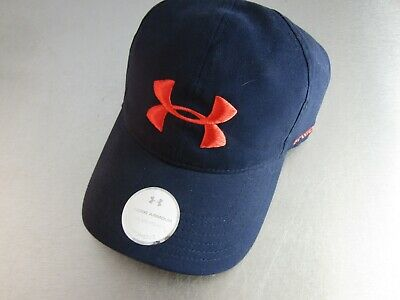 Under Armour Womens Adjustable Hat Cap Performance Heat Gear Navy Pink K-022