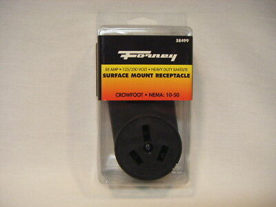 New Forney 58499 50 Amp Outlet Surface Mount Receptacle Heavy Duty 120/250V S28