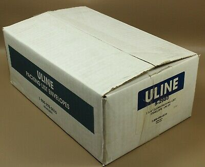 """Uline S-2980 packing slip envelopes, clear, 7"""" x 6"""",  Qty. 1000"""