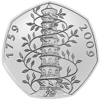 Celebrating 50 Years of the 50p. 2019 Coins Brilliant Uncirculated Kew Gardens.