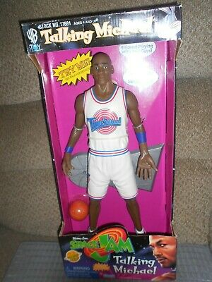 "Vintage 1996 Michael Jordan Space Jam Movie 15"" Talking Action Figure-New In Box"