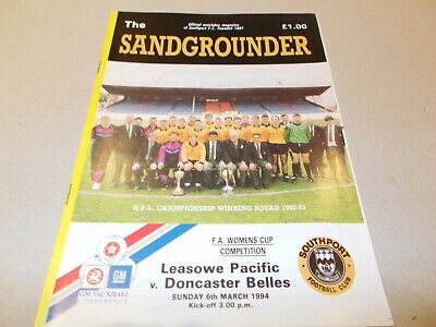 Leasowe Pacific v Doncaster Belles 1994 Womans FAC Semi