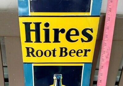Original 1932 HIRES ROOT BEER SIGN NO RUST!