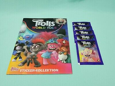 TROLLS WORLD TOUR TRADING CARD PACKETS SEALED TROLLS WORLD TOUR CARD PACKS