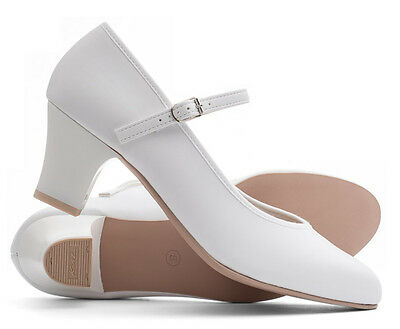 """Ladies White Character Stage Showtime Dance Shoes All Sizes By Katz Dancewear 2"""""""
