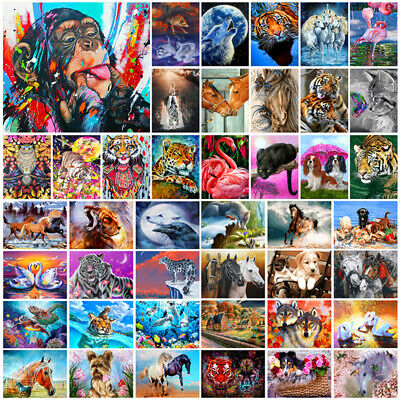 DIY Paint By Numbers Kit Digital Oil Painting Animal Tiger Art Wall Home Decor