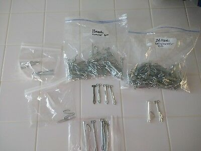 PRONGED METAL CURTAIN DRAPERY HOOKS Mixed LOT of 100 Vtg Used
