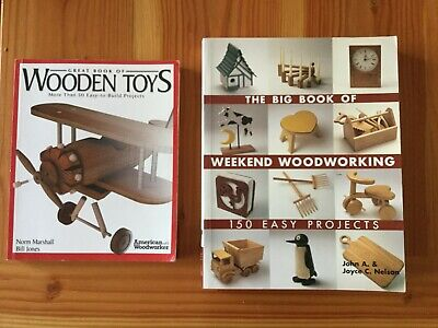 2 Woodwork Books Wooden Toys Projects Hobby Like New