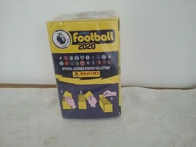 Unopened Full box of Panini football 2020 Premier League Stickers 100 pack