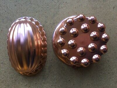 Vintage Anodised Jelly Moulds X 2
