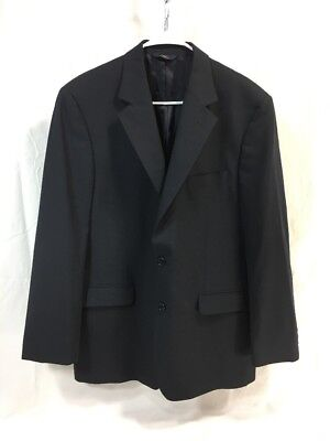 BROOKS BROTHERS 346 STRETCH BLUE 2 BUTTON WOOL Blazer Jacket Suit Coat Mens 41 R