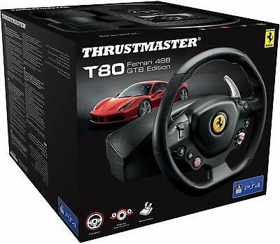 Thrustmaster - T80 Rw Ferrari 488 Gtb - Steering Wheel for PS4/PC - Officially